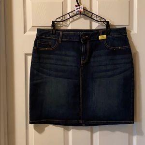 045 denim short skirt